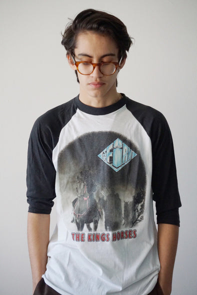 Vintage The Firm Kings Horses Raglan Tour Tee