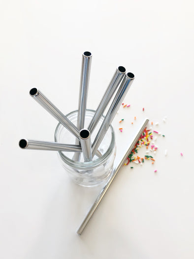 1 Reusable WIDE Stainless Steel Smoothie Straw