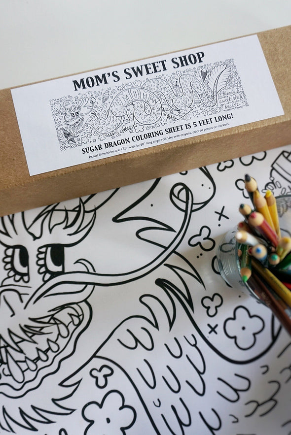 Mom's Sugar Dragon Giant Coloring Roll