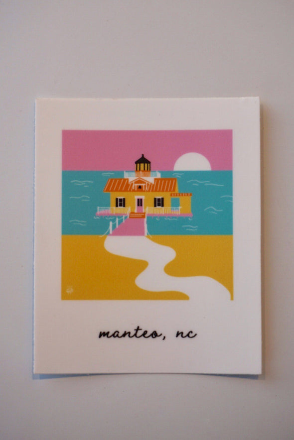 Manteo- Outer Banks Illustration Sticker
