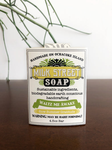 Milk Street Soap Co- Waltz Me Awake, Vegan