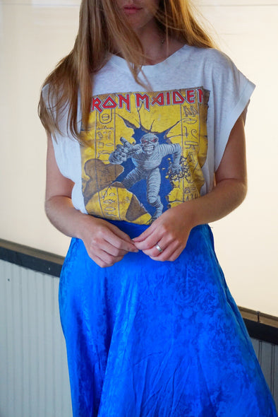 Vintage RARE Iron Maiden World Slavery Tour Tee 1985