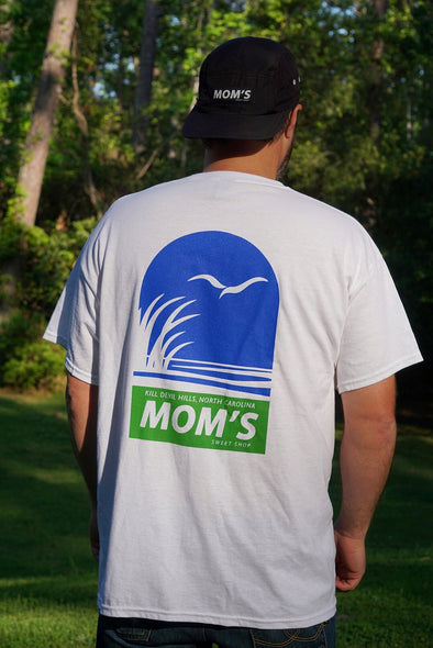Mom's Coastal Preserve Tee- White- Blue/Green
