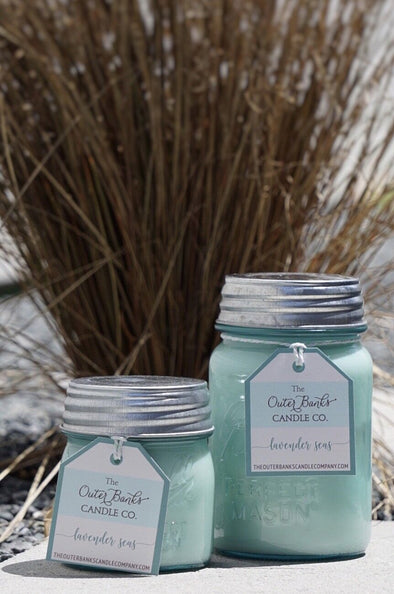 Aqua Ball Jar Candle 16oz- Lavender Seas