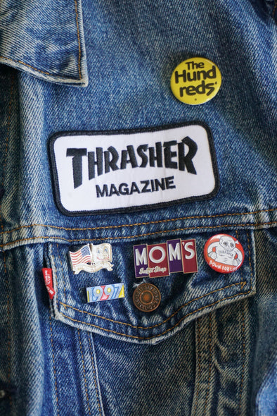 Thrasher Logo Patch- White