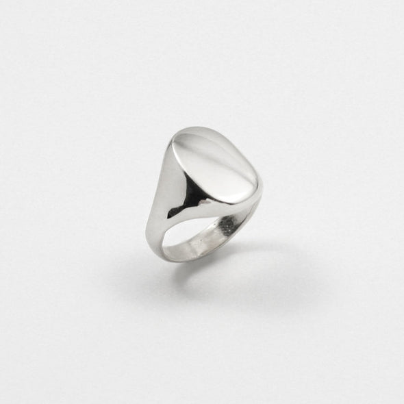 Merewif Eliot Signet Ring- Sterling Silver