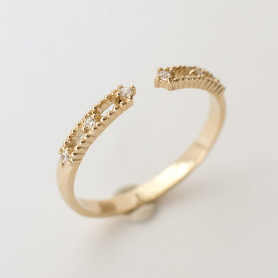 Merewif Like Meteors Ring- 10k Solid Gold