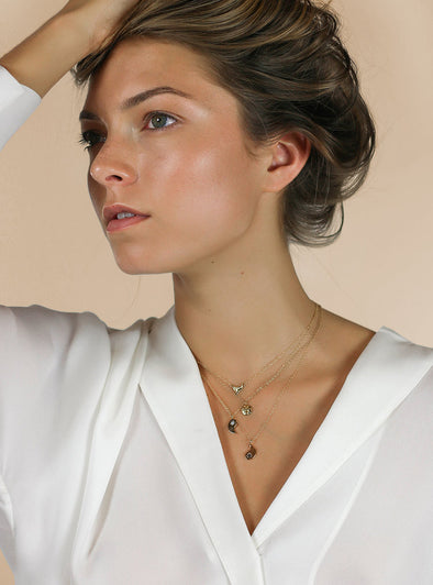 Merewif Yin + Yang BFF Necklace Set- Gold