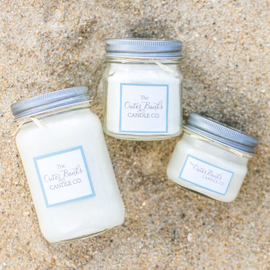 Outer Banks Candle Company Mason Jar Soy Candle- Beach Linens