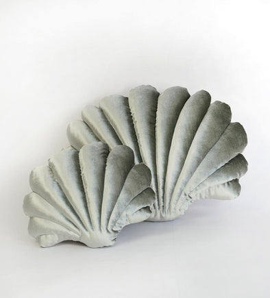 Shell Pillow- Small Luxe Velvet- Sage
