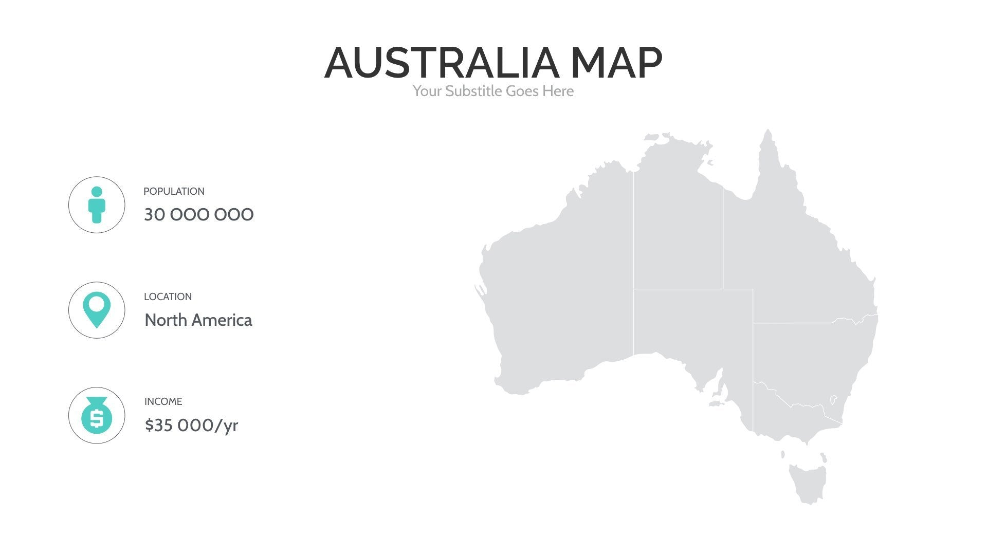 Australia Map Picture.Australia Map For Powerpoint Keynote Presentation Shop