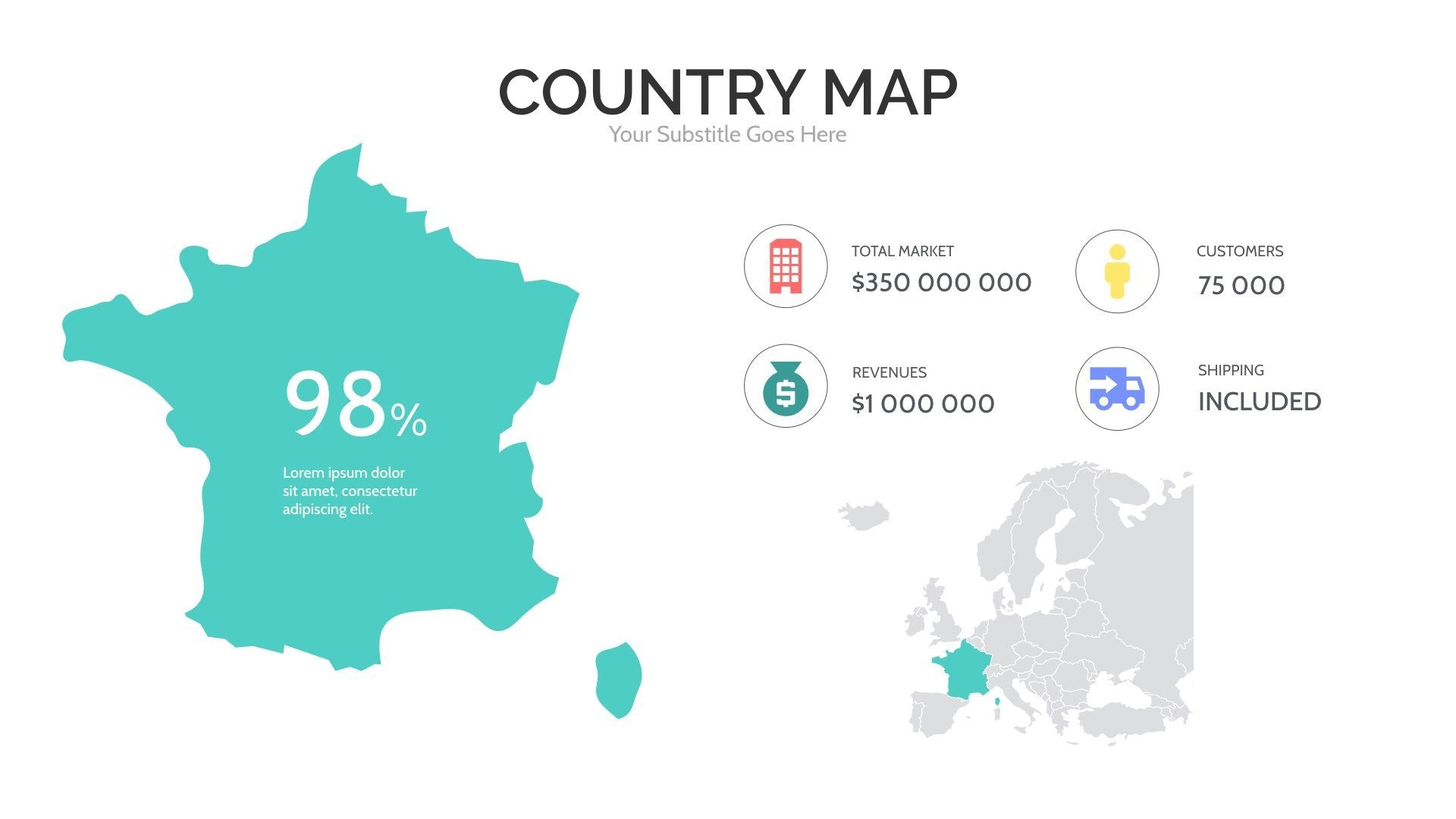 Europe map for powerpoint keynote presentation shop maps europe map for powerpoint gumiabroncs Gallery
