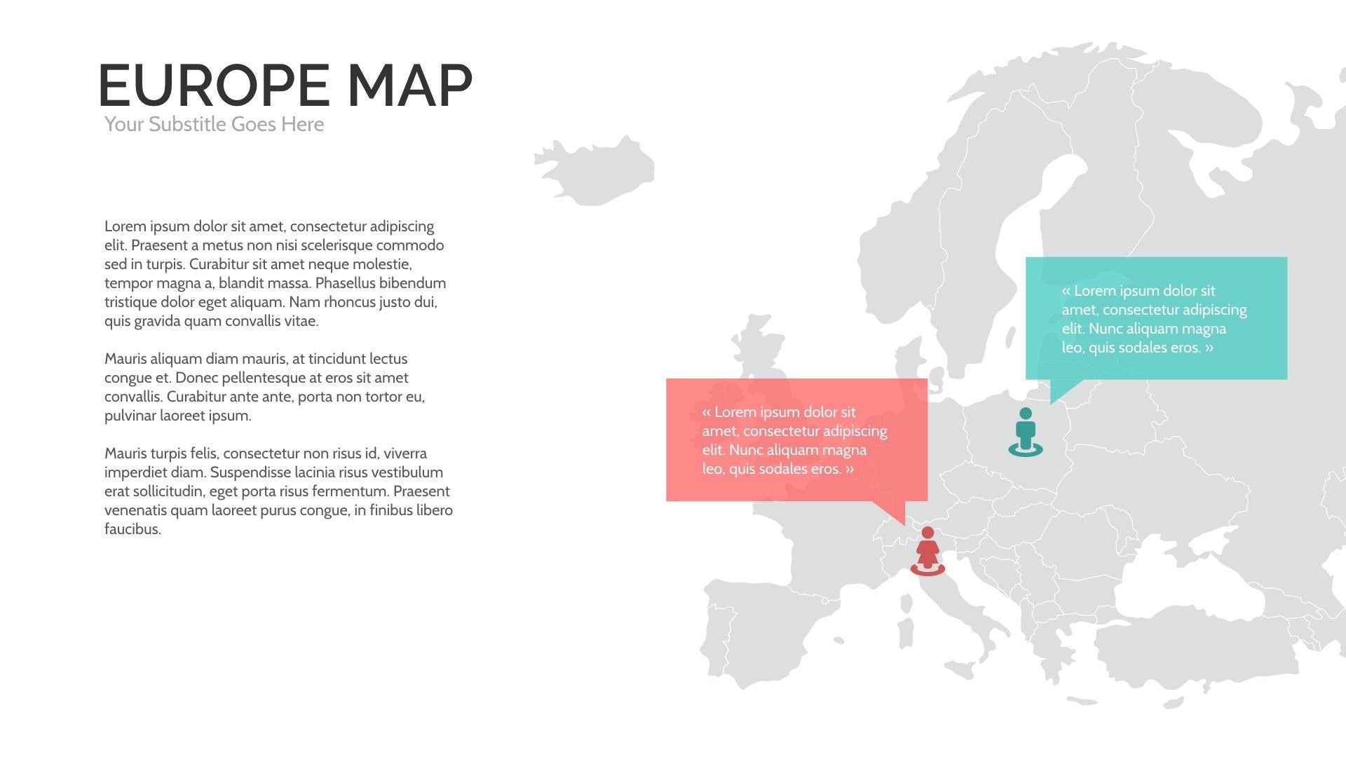 Europe Map Template. world maps series europe presentation ...