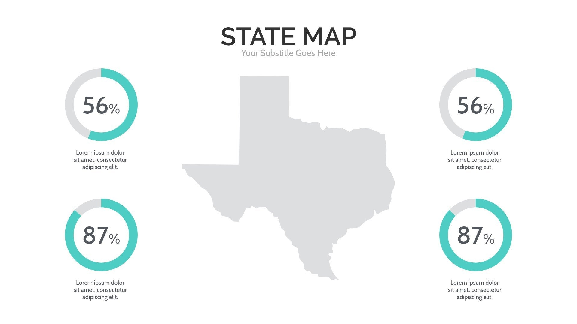 USA Map Keynote Template By Slidehack GraphicRiver USA Map For - Us map keynote