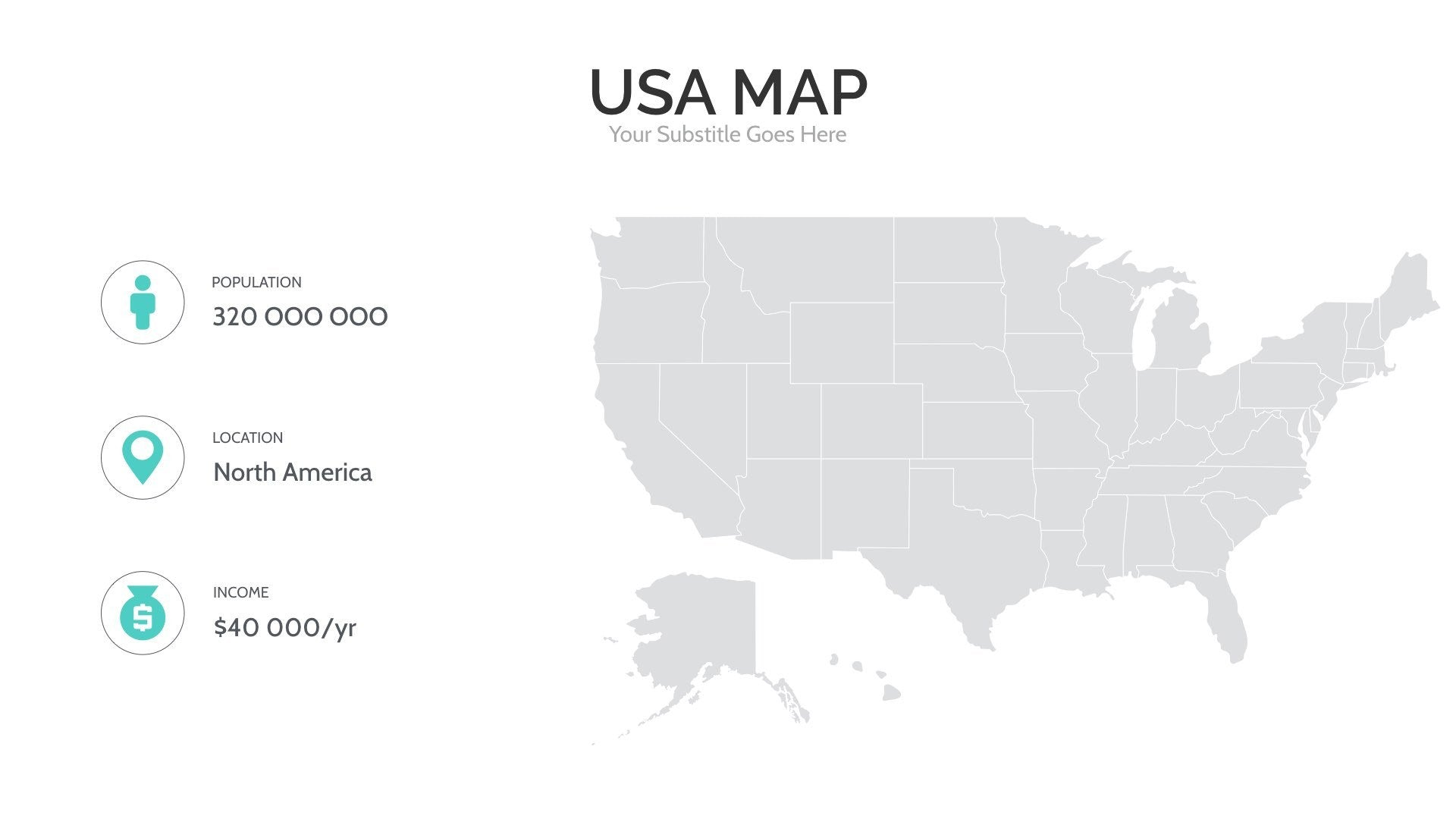 USA Map For PowerPoint Keynote Presentation Shop - Powerpoint usa map