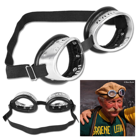 Retro Black Steel Frame Cycling Goggles