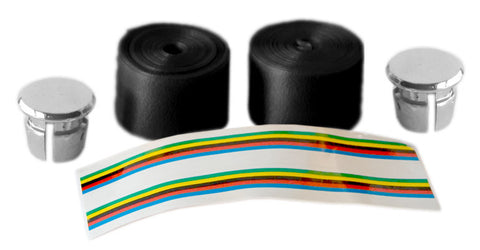 Black Shiny Bicycle Handlebar Tape