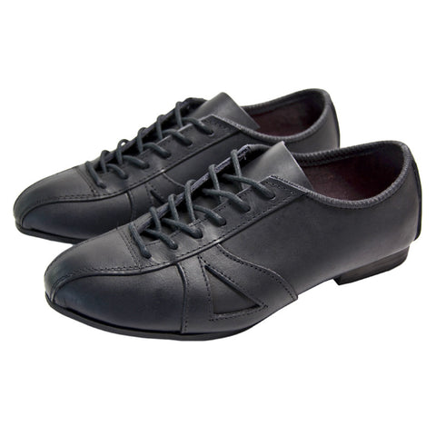 Classic Black Leather Cycling Shoe