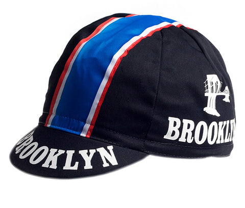 Brooklyn Black Cycling Cap