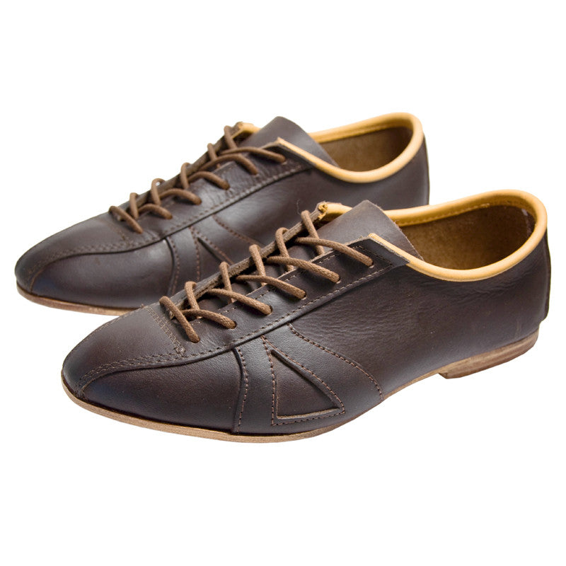 Classic Brown Leather Cycling Shoe