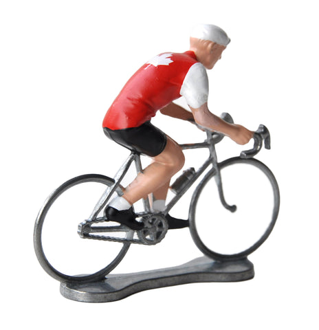 Miniature Canadian Cyclist Model