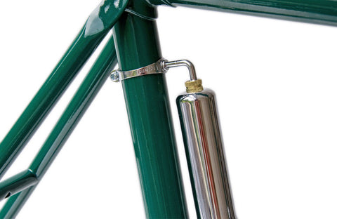 "9"" Chrome Steel, Bicycle Hand Pump & Chrome Pegs"