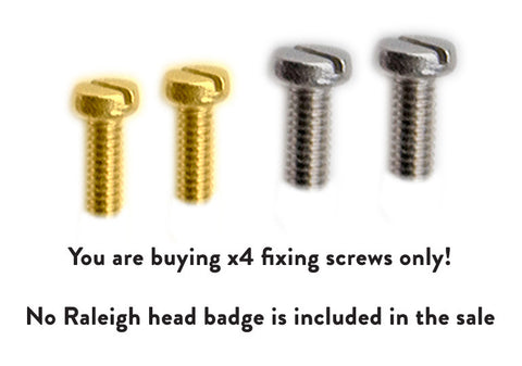 Replacement Fixing Screws for Cinelli Badges