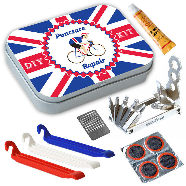 Union Jack Bicycle Repair Kit Complete with Tools