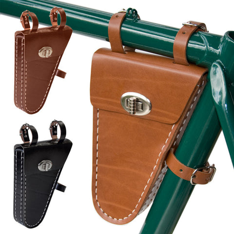 Leather Frame Bicycle Bag