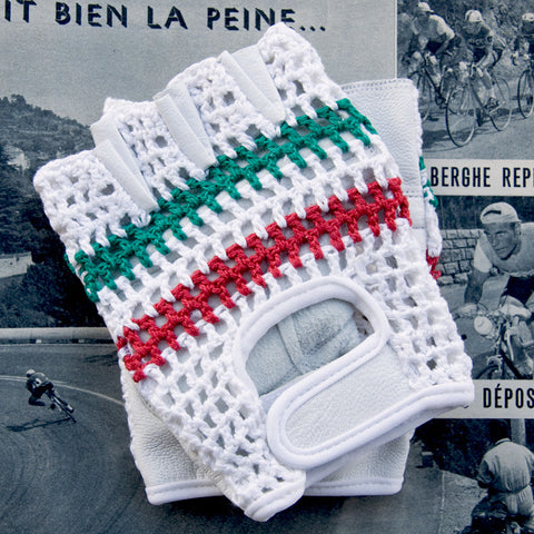 Italian Champion Leather Cycling Gloves