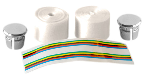 Pearl White Shiny Bicycle Handlebar Tape