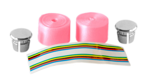 Pink Shiny Bicycle Handlebar Tape