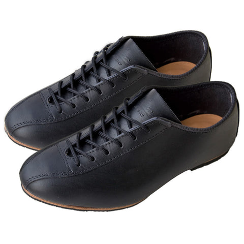 Heritage Black Leather Cycling Shoe