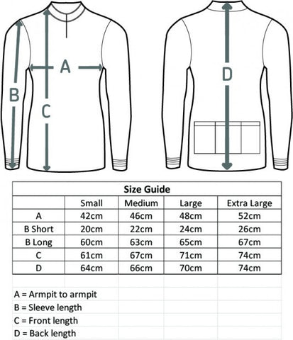 cycling jersey size guide