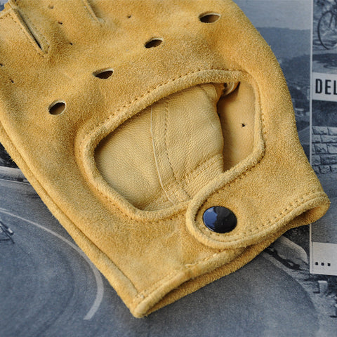 Suede Leather Cycling Gloves