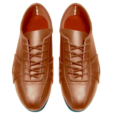 Classic Tan Leather Cycling Shoe