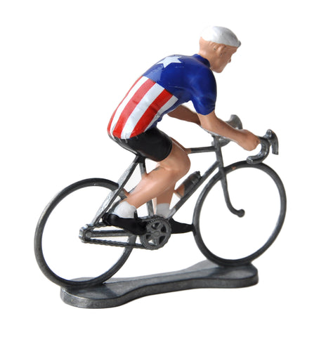 Miniature USA Cyclist Model