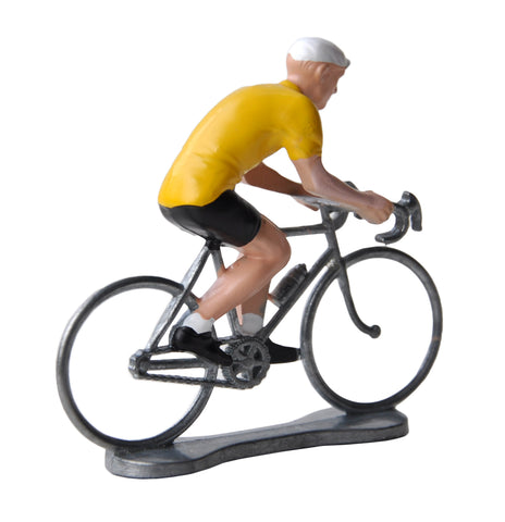 Miniature Yellow Jersey Cyclist Model