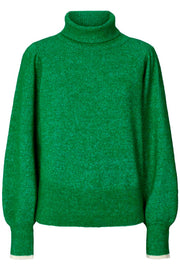 Annika Turtleneck | Green | Rullekrave fra Lollys Laundry