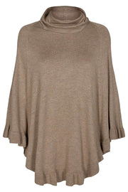 Claudisse Cape Roll | Beige Melange | Poncho fra Freequent