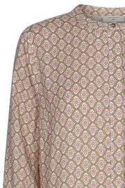 Adney LS Dress Mosaic | Pink Lemonade | Kjole med print fra Freequent