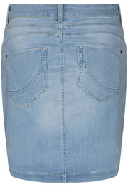 Charlie skirt wau | Light blue denim | Nederdel fra Freequent