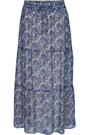 Emily long skirt | Turkish sea mix | Lang maxinederdel fra Freequent