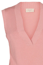 Lovely Wa V-Neck | Pale Mauve  | Vest fra Freequent