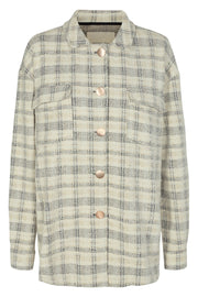 Beatrix Shirt Jacket | Birch Mix | Ternet jakke fra Freequent
