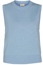 Amazy Wa Lurex | Chambray Blue | Vest med glimmer fra Freequent