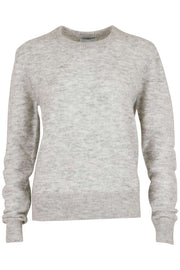 Dina knit | Light grey melange | Uld sweater fra Neo Noir