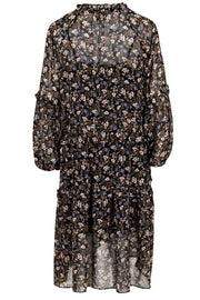 Hampton Flower Dress | Sort | Kjole med blomsterprint fra Neo Noir