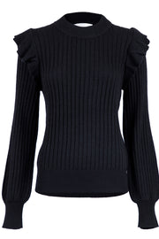 Wanda Knit Blouse | Black | Strik fra Neo Noir