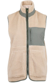 Franita Teddy Vest | Dusty Mint | Teddy vest fra Neo Noir